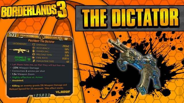 Borderlands 3 | The Dictator Legendary Weapon Guide (Multi-Pellet Spam!)