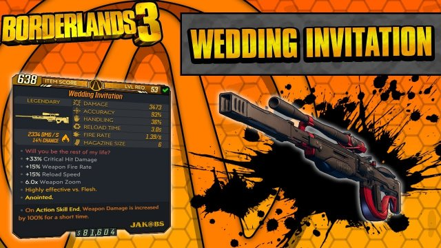 Borderlands 3 | Wedding Invitation Legendary Weapon Guide (Insane One-Shot Sniper!)