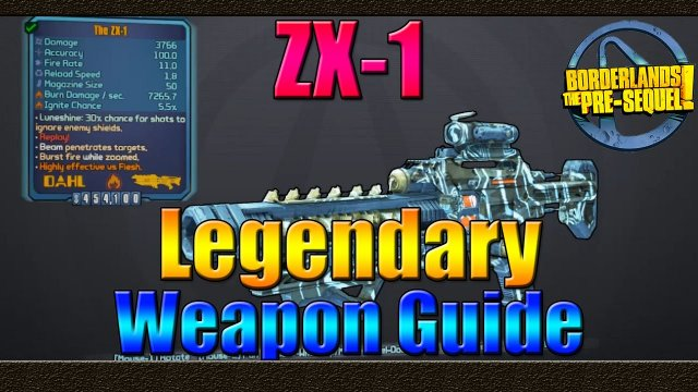 Borderlands The Pre Sequel | UVHM Legendary Weapon Guide | The ZX-1 Laser